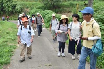 散策を通じ、田代地区の魅力を満喫したエビノフットパス