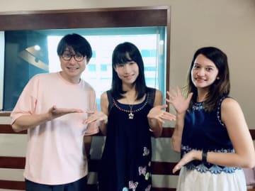(左から)鈴村健一、いとうまゆさん、ハードキャッスル エリザベス