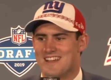 Daniel Jones with the Giants in 2019