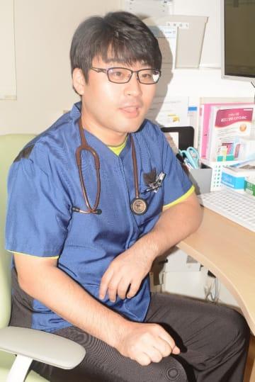 城内地区で地域医療に取り組む林彰仁院長=洋野町