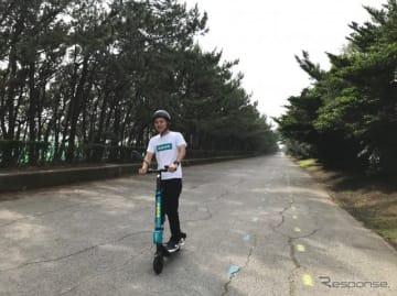 7月、千葉市稲毛海浜公園での実証実験