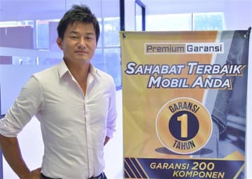 Wataru Ota, director of PT Premium Garansi Indonesia, a joint venture established by Japanese auto loan and used-car warranty provider Premium Group Co. and three other Japanese and Indonesian partners, shown in a photo taken on May 27, 2019.