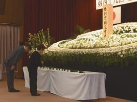 戦没者の冥福を祈った追悼式