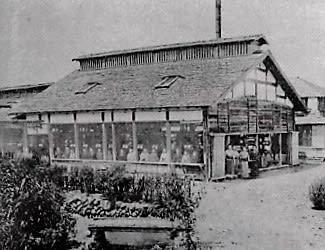 藩営前橋製糸場(1878年撮影、宮内庁書陵部提供)