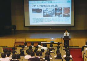 全校生徒が改めて平和について考えた森川さんの報告会