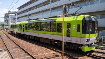 叡山電鉄900系電車「きらら」新緑塗装 写真:鉄道チャンネル編集部