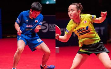 張本智和、伊藤美誠 提供:ITTF/アフロ