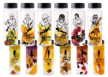 ボトルにキャラクターの絵柄が描かれたドリンクキット((C)LUCKY LAND COMMUNICATIONS/集英社・ジョジョの奇妙な冒険GW製作委員会)