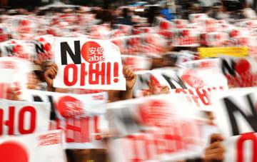 日本製品の不買運動が'急速に広がる韓国。高まるカントリーリスクを憂慮する声が、日系企業から相次いでいる=韓国・ソウル(NNA撮影)
