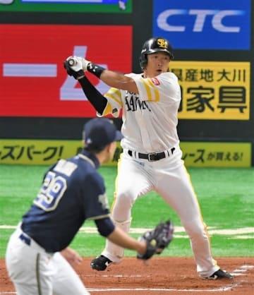 ソフトバンク柳田快音「アゲイン」「またしびれる野球ができる」
