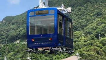 新たにデジタルパスに対応する下田ロープウェイ 写真:2019年7月31日 一橋正浩