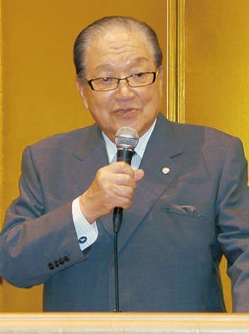 横浜港運協会・藤木幸夫会長の講演会@日本大通り