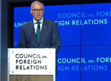 Gov. Jay Inslee Outlines Ambitious Climate Change Plan At Council On Foreign Relations (Photo: Erik Meers/uPolitics.com)