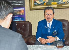 青山市長を表敬訪問した国際ロータリー第2510地区の福田ガバナー