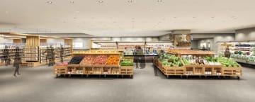 ラクト山科ショッピングセンターに出店する「無印良品」の食品売り場のイメージ図