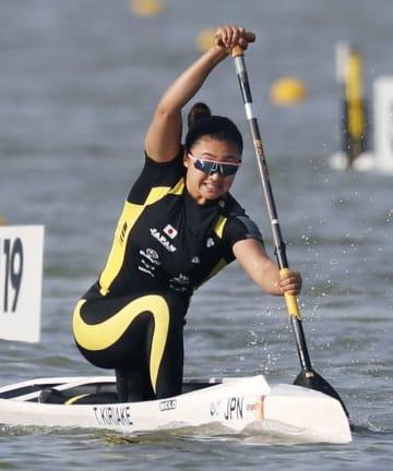 女子カナディアンシングル200メートル準決勝3組 4着の桐明輝子=セゲド(共同)