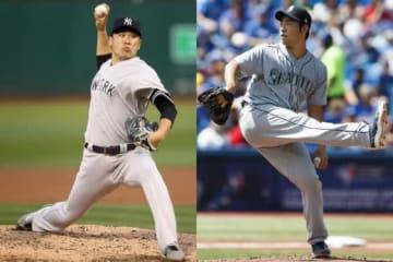 ヤンキース・田中将大(左)、マリナーズ・菊池雄星【写真:Getty Images】