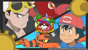 「ポケットモンスター サン&ムーン」の「燃え上がる炎!ライバルはひとりじゃない!!」(C)Nintendo・Creatures・GAME FREAK・TV Tokyo・ShoPro・JR Kikaku (C)Pokemon