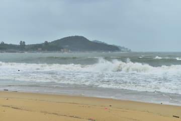 台風11号、福建省東山県に上陸