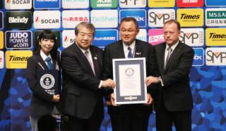 開会式で全日本柔道連盟会長の山下泰裕氏にギネスワールドレコードリミテッドより公式認定証が授与された。