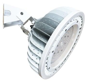 高効率のLED投光器を開発した(写真は現行の製品)