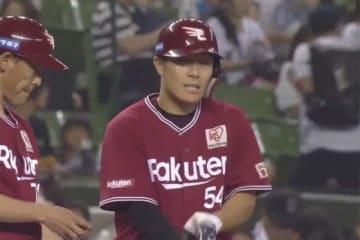 「7番・一塁」で先発し4安打と活躍した楽天・和田恋【画像:パーソル パ・リーグTV】