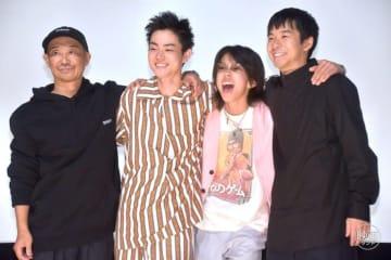 (左から)大森立嗣監督、菅田将暉、YOSHI、仲野太賀