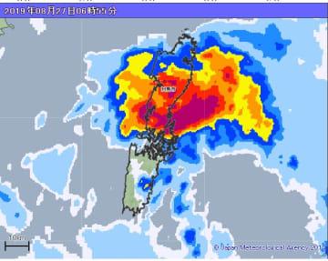 27日(金)午前6時55分現在 雨の様子(出典=気象庁ホームページ)
