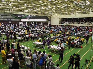 40の地方ブロック予選を勝ち抜いた全196チームが関西学院大学・西宮上ヶ原キャンパス・総合体育館に集結、熱い戦いを繰り広げた