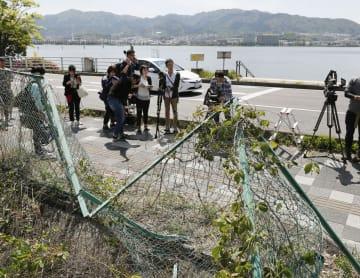 5月8日、保育園児らの列に車が突っ込んだ大津市の事故現場