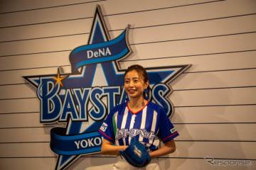 片瀬那奈、横浜スタジアムで始球式