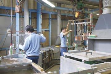 第2工場のメッキ加工の工程