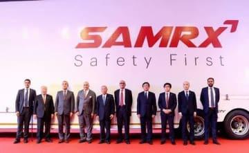 SAMRX設立式には、スズキの鈴木修会長らが出席した(サムバルダナ・マザーサン・グループ提供)