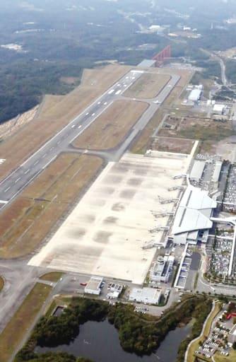 バンコク線が10年ぶりに復活する見通しとなった広島空港(三原市)