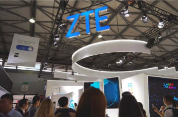 ZTE booth at the Mobile World Congress 2019 in Shanghai. (Image credit: TechNode/Shi Jiayi)