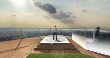東京・渋谷で開発中の大規模複合ビルの展望施設「渋谷スカイ」のイメージ(渋谷スクランブルスクエア提供)