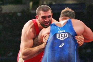 東京オリンピックへ向けて復帰したバイリャル・マコフ(ロシア)、今年の世界選手権に出場か?=写真は2015年世界選手権(撮影・矢吹建夫)