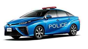 徳島県警が導入する燃料電池パトカーのイメージ(徳島県提供)