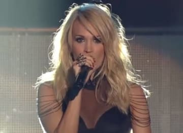 Carrie Underwood performs at the 2015 CMT Awards