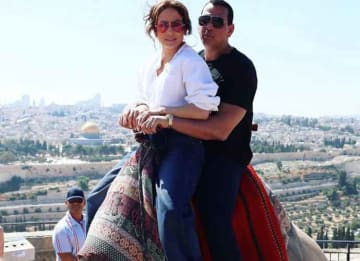 Jennifer Lopez & Alex Rodriguez Take A Camel Ride In Jerusalem