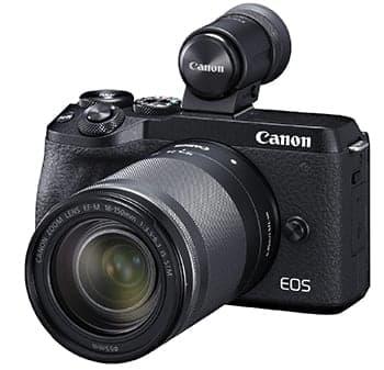 キヤノンが9月下旬に発売する「EOS M6 Mark II」は外付けEVFに対応する(画像はブラック)