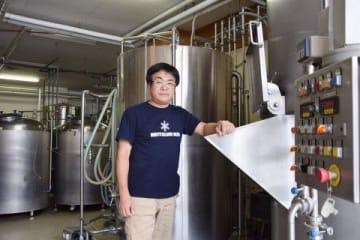 江別産小麦のビールを製造するSOCブルーイングの多賀谷工場長