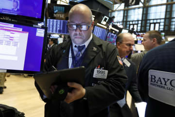ニューヨーク証券取引所(AP=共同)