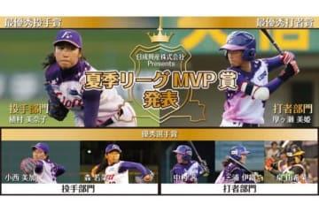 夏季リーグMVP賞の受賞者が決定!【写真提供:日本女子プロ野球リーグ】