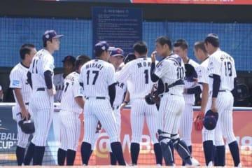 初戦を4-2で勝利した侍ジャパンU-18代表【写真:荒川祐史】