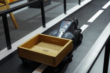DeepRacer at AWS is a race car powered by reinforcement learning. (Image credit: TechNode/Shi Jiayi)