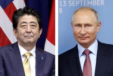 安倍晋三首相、ロシアのプーチン大統領