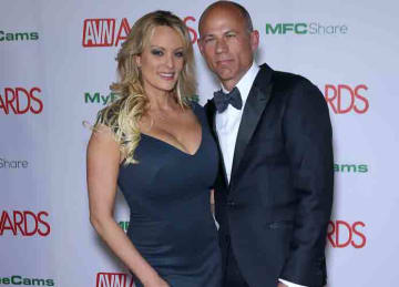 2019 AVN Awards Red Carpet Arrivals at The Joint Inside The Hard Rock Hotel and Casino PersonInImage : Stormy Daniels,Michael Avenatti