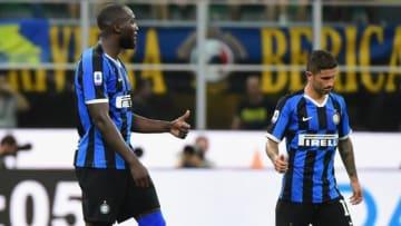 開幕節でゴールを挙げたルカク(左)写真提供: Inter.it
