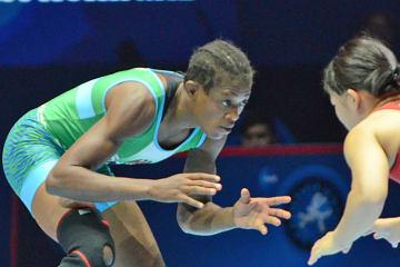 オール・アフリカ大会を連覇したオヅナヨ・アデクオロイ(ナイジェリア)=写真は2017年世界選手権決勝